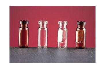 National Scientific Wide Opening Crimp-Top Vials, National Scientific C4011-S2W Amber Vials Deactivated Target I-D Vials, Silanized