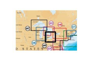 Navionics Platinum Plus Lake Erie and Lake St Clair Marine Digital Map MSD649P