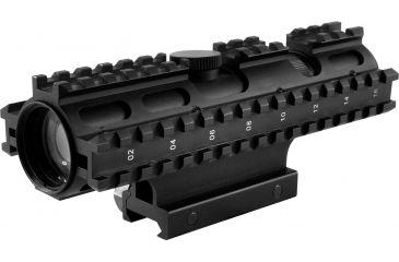 NcStar 2-7X32mm Riflescope 3 Rail Sight System Green Mil-Dot Reticle SC3RSM2732G
