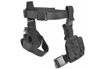 Ncstar 3pcs Drop Leg Gun Holster And Magazine Holder Black Cv2908