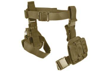 Ncstar 3pcs Drop Leg Gun Holster And Magazine Holder Tan Cv2908t