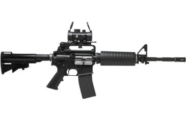 6-NcSTAR AR Combo/Carry Handle Adapter/Red Reflex Sight