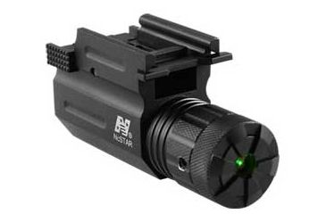 Nc Star Compact Pistol And Rifle Green Laser With Quick Release Weaver Mount AQPTLG