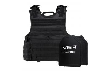 2-NcSTAR Expert Carrier Vest w/Two 10x12in Shooters Cut Hard PE Ballistic Panels