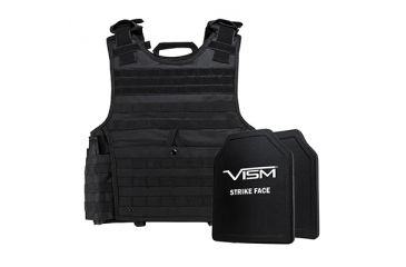 5-NcSTAR Expert Carrier Vest w/Two 10x12in Shooters Cut Hard PE Ballistic Panels