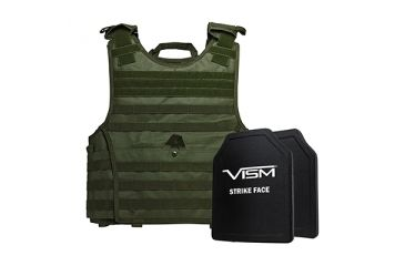 6-NcSTAR Expert Carrier Vest w/Two 10x12in Shooters Cut Hard PE Ballistic Panels