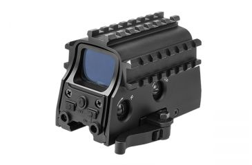 NcSTAR GREEN DOT 3 ARMORED RAIL SIGHTING SYSTEM QUICK RELEASE BUILT-IN RED LASER-G D3ARSGQLR2