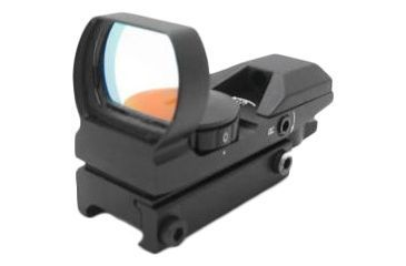NcSTAR Red Dot Sight - Tactical Red Dot With 4 Different Reticles / Black D4B