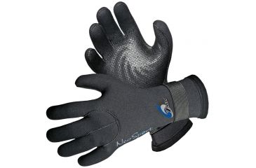Neosport 3mm Velcro Glove Blk Md SG30V MED BLK