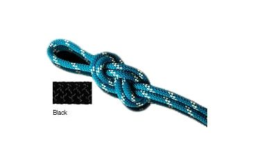 New England Ropes Km-III Static Rope, Black, 3/8x150ft 100403