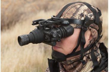 NG PVS7 QS Gen 2Plus Night Vision Goggles Quick Silver White Phosphor, Black NGPVS72QS