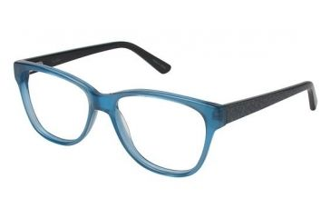 Nicole Miller Albany Single Vision Prescription Eyeglasses - Frame BLUE FADE, Size 52/16mm NMALBANY03