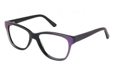 Nicole Miller Albany Single Vision Prescription Eyeglasses - Frame PURPLE FADE, Size 52/16mm NMALBANY02