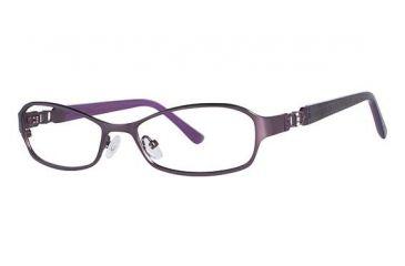 Nicole Miller Barrow Bifocal Prescription Eyeglasses - Frame Matte Eggplant/Purple, Size 52/16mm NMBARROW03