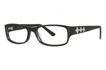 Nicole Miller Baxter Eyeglass Frames - Frame Black, Size 52/15mm NMBAXTER01