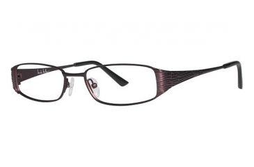 Nicole Miller Bayard Single Vision Prescription Eyeglasses - Frame Matte Burgundy, Size 50/16mm NMBAYARD03