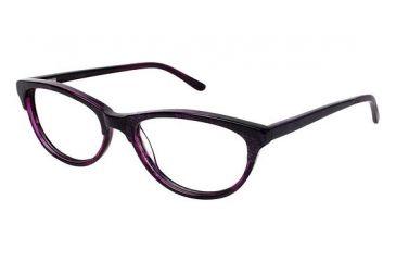Nicole Miller Bedford Single Vision Prescription Eyeglasses - Frame PURPLE HORN, Size 53/17mm NMBEDFORD03