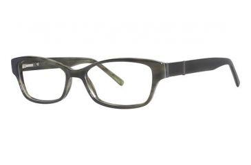 Nicole Miller Bleeker Prescription Eyeglasses - Frame Olive Horn, Size 54/15mm NMBLEEKER03