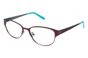 Nicole Miller BOND Bifocal Prescription Eyeglasses - Frame Wine Red, Size 51/16mm NMBOND03