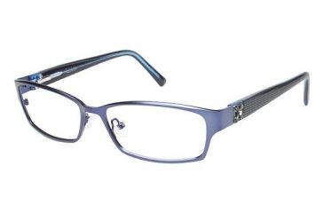 Nicole Miller Bowery Progressive Prescription Eyeglasses - Frame Indigo/Black, Size 53/15mm NMBOWERY03