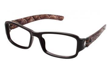 Nicole Miller Canal Bifocal Prescription Eyeglasses - Frame BROWN/SNAKE, Size 51/15mm NMCANAL01