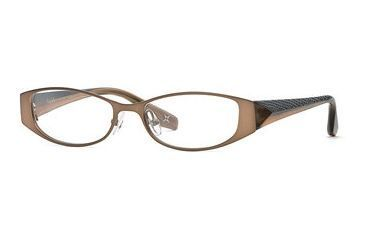 Nicole Miller Collection NL Demure SENL DEMU00 Single Vision Prescription Eyewear - Nutmeg SENL DEMU005140 BN