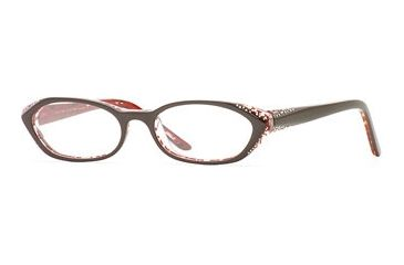 Nicole Miller Collection NL Scandale SENL SCAN00 Progressive Prescription Eyeglasses - Bamboo SENL SCAN005240 BN
