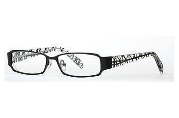 Nicole Miller Edgy SENM EDGY00 Eyeglass Frames - Black Web SENM EDGY005135 BK