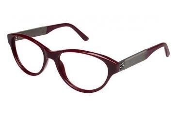 Nicole Miller Fifth Bifocal Prescription Eyeglasses - Frame Burgundy, Size 53/16mm NMFIFTH03