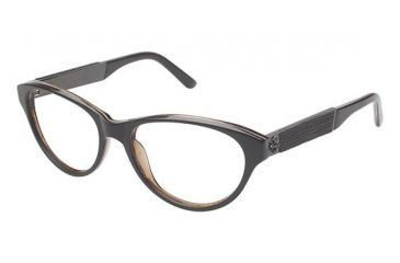 Nicole Miller Fifth Eyeglass Frames - Frame Chocolate Brown, Size 53/16mm NMFIFTH02