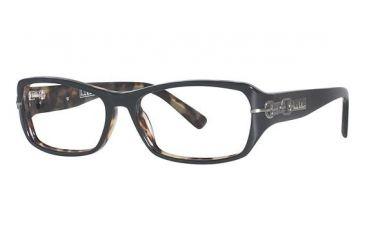 Nicole Miller Fulton Single Vision Prescription Eyeglasses - Frame Black, Size 52/14mm NMFULTON01