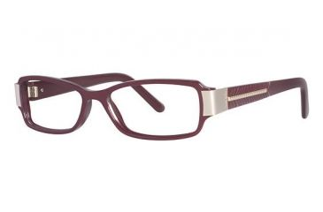 Nicole Miller Hester Single Vision Prescription Eyeglasses - Frame Burgundy, Size 53/15mm NMHESTER03