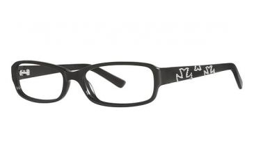 Nicole Miller Houston Single Vision Prescription Eyeglasses - Frame Black, Size 52/15mm NMHOUSTON01