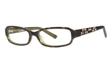 Nicole Miller Houston Single Vision Prescription Eyeglasses - Frame Tortoise, Size 52/15mm NMHOUSTON02