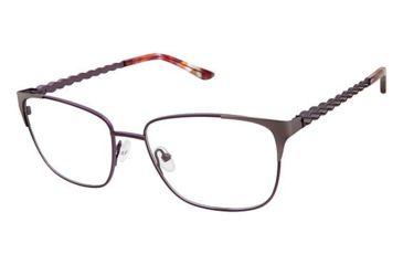 76b9428da2c Nicole Miller Jackson Eyeglass Frames - Frame MATTE EGGPLANT