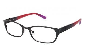 Nicole Miller Jane Bifocal Prescription Eyeglasses - Frame Matte Black, Size 52/17mm NMJANE01