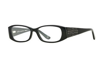 Nicole Miller Ravishing SENM RAVI00 Progressive Prescription Eyeglasses - Black SENM RAVI004935 BK