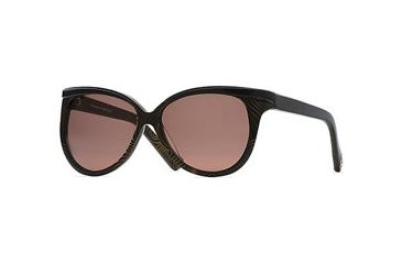 Nicole Miller Tres Chic SENM TRES06 Single Vision Prescription Sunglasses SENM TRES065630 BK - Lens Diameter: 60 mm, Lens Diameter: 56 mm, Frame Color: Gold Swirl