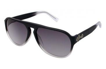 Nicole Miller Tudor Sunglasses - Frame MATTE BLACK/WHITE FADE, Size 58/15mm NMTUDOR01