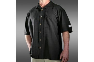 Nikon ProGear Black Men's Silk Camp Shirt