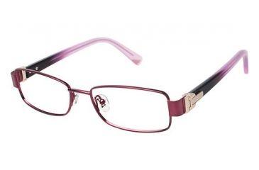Nina Ricci NR2288CF Progressive Prescription Eyeglasses - Frame DARK PURPLE, Size 52/16mm NR2288CF03