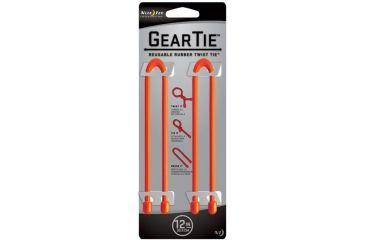 Nite Ize Gear Tie 12in Bright Orange 2pk