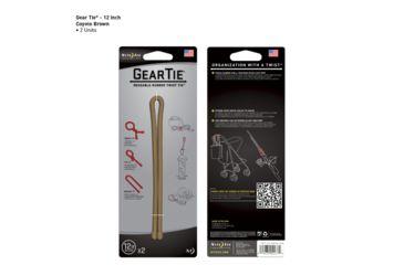 Nite Ize Gear Tie 12 Inch 2 Pack - Coyote Brown GT12-2PK-29