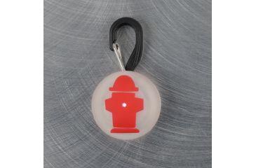 Nite Ize PetLit LED Collar Light, White LED, Red Hydrant PCL02-03-10HY