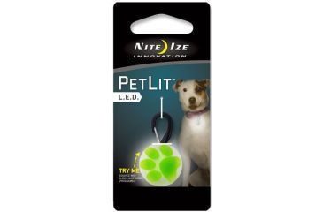 Nite Ize PetLit LED Collar Light Paw Green PCL02-03-17PA