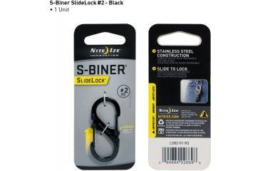 Nite Ize S-Biner SlideLock Size 2, Black LSB2-01-R3