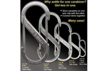 Nite Ize SB234-03-01 S-Biner Versatile Carry Biners - 3 Pack