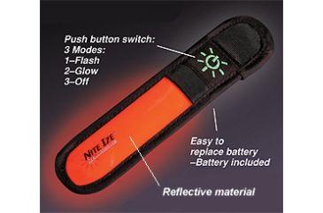 Nite Ize SOM-03 Stick-On Marker Adhesive Stick w/ LED Flash or Glow Illumination