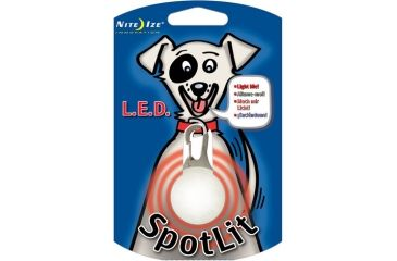 Nite Ize SpotLit LED Clip On Safety Light, Red NSL-03-10