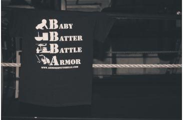 Nutshellz Baby Batter Battle Armor T-Shirt, Medium, Black BABY-BATTER-TSHRT-MD